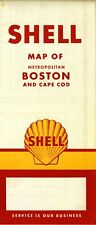 1959 Shell Road Map: Boston and Cape Cod NOS