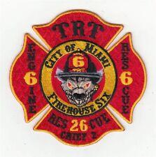 Florida Miami Fire Department Engine 6 Rescue 6 Rescue 26 Patch