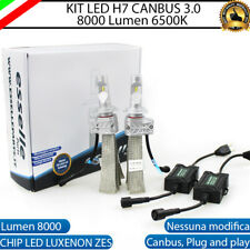 KIT LED H7 6500K FULL CANBUS 8000 LUMEN LED LUXEON LAMPADE ZES AUDI A3 8V