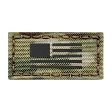 IR Mini Patch 1x2 USA Flag Multicam Morale Tactical IFF