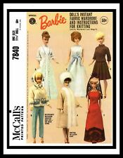 Mattel McCall's 7840 Miss Barbie Midge DOLL Fabric Sewing & Knitting Pattern WOW