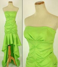 Morgan & Co USA Grand Prom Formal Cruise Full Length Dress size 7 Lime Long