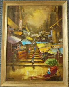 BANGKOK - CONTEMPORARY OIL PAINTING ON CANVAS.