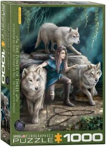 Wolves Family Anne Stokes 1000 piece jigsaw puzzle 680mm x 480mm (pz)