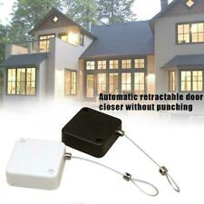 1xSquare TelescopicPunch-free Automatic Sensor Door Closer Draw BoxWire RopeTool