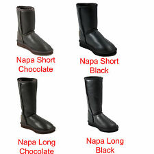Premium UGG Napa Long Australia Sheepskin UGG Boots - Napa Long Chocolate Black