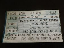 Bryan Adams 1997 Concert Ticket Stub Pnc Bank Arts Center Nj