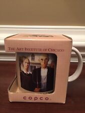 GRANT WOOD AMERICAN GOTHIC COFFEE MUG ART INSTITUTE  CHICAGO COPCO 1993 CUP NEW