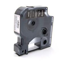 RUBAN CASSETTE 12mm B/N pour Dymo D1, 45021