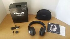 Klipsch Status Over Ear  Headphones Black Silver in Box w/ Soft Case