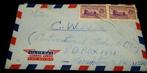 Vintage Postal Cover, RIOBAMBA, ECUADOR, Airmail To Scranton, PA,1957,Int School