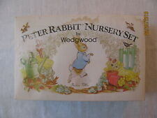 Vtg Wedgwood Beatrix Potter Peter Rabbit Nursery Set,Mug/Plate/Oatmeal,Ori g Box