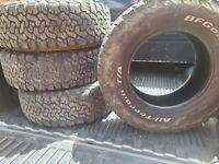 Lt265 70 17 BF GOODRICH K02 10PLY tires set of 4