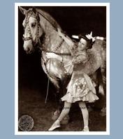 Vintage Circus Girl PHOTO Bareback Rider Sideshow Costume Horse Act 1920