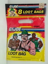 GI Joe A Real American Hero Pack of 8 Party LOOT BAGS by Unique Industries 1986