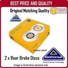 NBD1533  2 X REAR BRAKE DISCS  FOR PEUGEOT 407