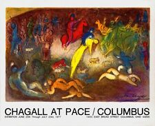 Enlevement de Chloe (Abduction of Chloe) Marc Chagall Art Print 1977 Lithograph