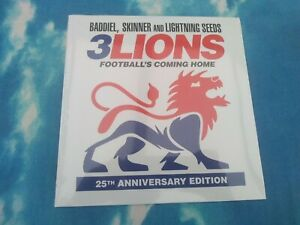 "Baddiel Skinner And Lightning Seeds - 3 Three Lions Sealed RED VINYL 7"" ENGLAND#"