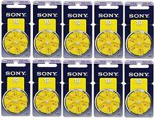 60 x Sony Typ 10 Hörgerätebatterien 10 x 6er-Blister 1,45V Gelb PR70