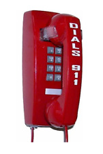 Emergency Hot-line Wall Phone - Off-Hook Auto Dials 911 (or any other number)