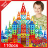 110 PCS 3D Magnetic Building Tiles Sets Small Block Kids Handbook Easy to Learn