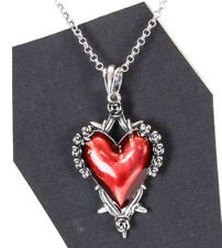 Red Rose Secred Heart ThronesSteampunk Necklace Pendant Punk Gothic Cosplay