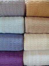 Classic Waffle Weave Cotton Thermal Blanket (See Case Pack in Description)