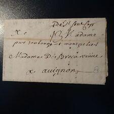 MARQUE POSTALE LETTRE COVER DE St SEVER (MANUSCRIT) 1747 L1