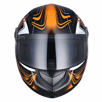 Full Face Motorcycle Helmet DOT Air Vents Clear Visor Racing Touring AHR K12 M