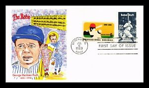 DR JIM STAMPS US BABE RUTH BASEBALL FIRST DAY COVER DORIS GOLD UNSEALED COMBO