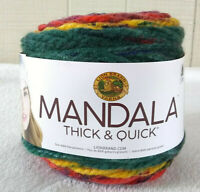 Lion Brand Mandala Thick and Quick Yarn Turbine Super Bulky 6 Acrylic