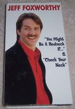 Jeff Foxworthy - You Might Be a Redneck If... & Check Your Neck VHS Video