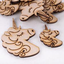 Wooden MDF Shapes Unicorn Scrapbook Embellishments Card Decoration