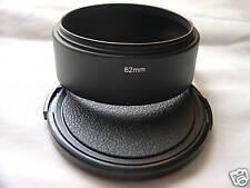 New Metal Standard 62mm Screw-in Lens Hood + Cap
