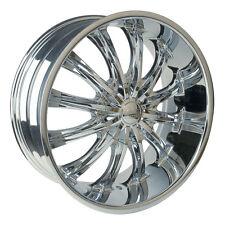 26 Inch Borghini B15 Chrome Wheels rims & Tires Fit 6 X 5.5  Silverado Escalade