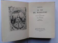 """MARIVAUX """" La vie de Marianne """" Ed. Stock NUM. sur Vélin, 1947 prassinos arland"""