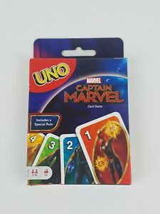 Captain Marvel UNO Card Game Mattel