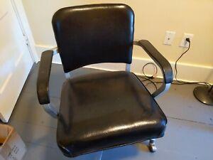 Retro Mid Century Emeco Goodform Aluminum Tilt Rolling Office Desk Arm Chair