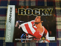 Rocky - Authentic - Nintendo Game Boy Advance - GBA - Manual Only!