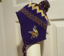 NFL Minnesota Vikings Infant Mongolian Knit Beanies