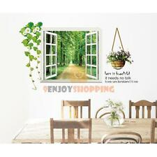 Tree-lined Trail Window Removable Vinyl Decal Art Mural Home Decor Wall Sticker