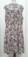 TU Plus Size 20 Pink Red Beige Floral Long Dress Tunic Summer Holiday Fashion