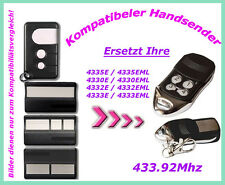 433,92 Mhz Handsender kompatibel zu Garagentor HE60 HE60W HE60PY JM60-433