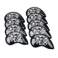 9pcs Skull Iron Club Head Covers Iron Cover Headcover For Golf Taylormade Mizuno
