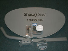 LOT OF 4 SATELLITE DISH KIT 60E SHAW DIRECT TRIPLE QUAD OUTPUT XKU LNBF