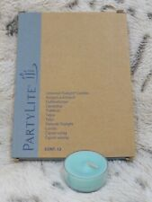 New ListingPartyLite Universal Tealight Candles Topical Waters Light Blue 12 Count Nib