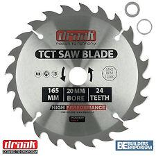 Draak TCT Blade Circular Saw 165mm x 20mm Bore 24 Tooth wood Makita Bosch