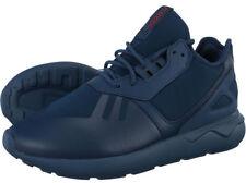 Adidas Originals Boys Girls Tubular Runner K Leather Trainers Navy Kids UK 2