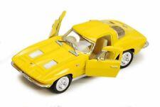1:36 Scale 1963 Chevrolet Corvette Diecast Model Car Kinsmart Yellow