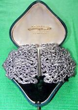 Old Art Nouveau White Metal Indian Silver Midwife Nurse Buckle Valentine Gift C